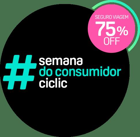 Semana do consumidor Ciclic - Seguro Viagem com 75% OFF